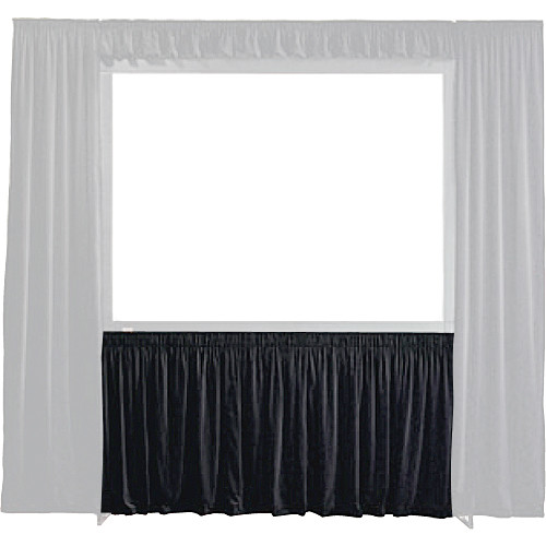 "Draper 384075 StageScreen Dress Kit Skirt (108 x 144"", Black)"