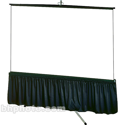 "Draper Skirt for Tripod Screen - 38 x 87"" - Poly-Knit"