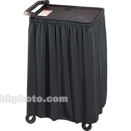 """Draper Skirt for Mobile AV Carts/Tables - 22 x 84""""- Black Classic Twill"""