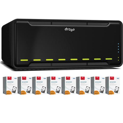 Drobo 32TB (8 x 4TB) B800fs 8-Bay Network File Sharing Storage Kit