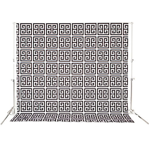 Drop it Modern Lightweight Line: Black Keys Background (4.5 x 6', Black/White)