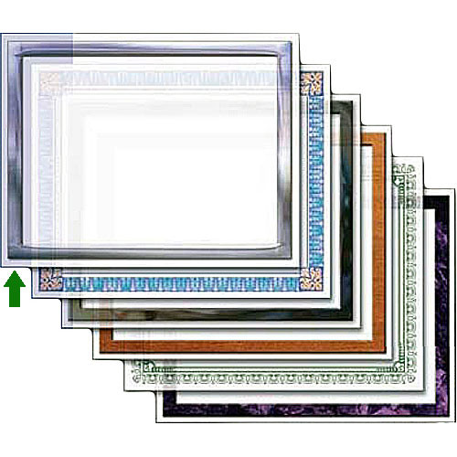 "Dry Lam Pizzazz Decorative Laminating Pouches - Chrome Pack - Classic Frames 4.25 x 6.25""  (24 Pack)"