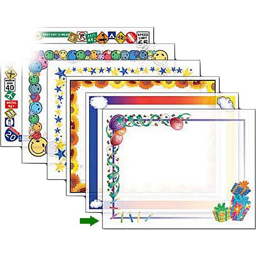 "Dry Lam Pizzazz Decorative Laminating Pouches - Birthday Pack - Fun Frames 4.25 x 6.25""  (24 Pack)"