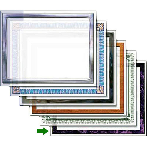 "Dry Lam Pizzazz Decorative Laminating Pouches - Purple Stone Pack - Classic Frames 9 x 11.5""  (24 Pack)"