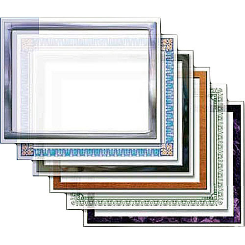 "Dry Lam Pizzazz Decorative Laminating Pouches - Certificate Pack - Classic Frames 9 x 11.5""  (24 Pack)"