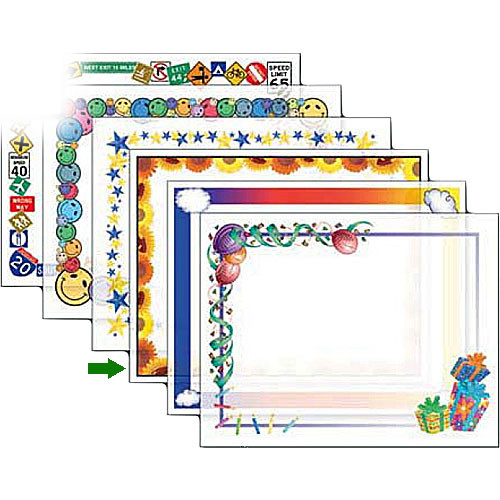 "Dry Lam Pizzazz Decorative Laminating Pouches - Sun Flower Pack - Fun Frames 9 x 11.5""  (24 Pack)"