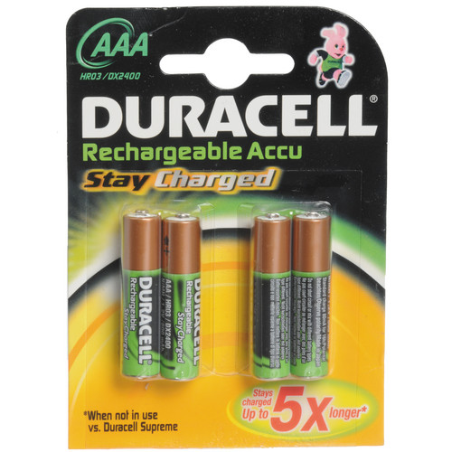 Duracell AAA Rechargeable Accu Stay Charged Batteries (4 pack)