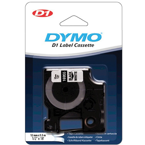 "Dymo Permanent High Performance D1 Labels (1/2"" x 18')"
