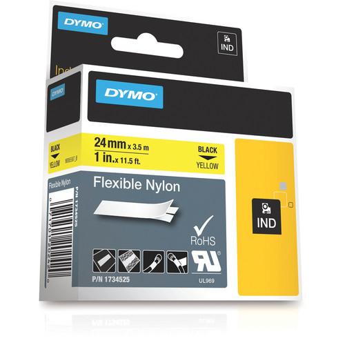 "Dymo Rhino 1.0"" Yellow Flexible Nylon Tape"