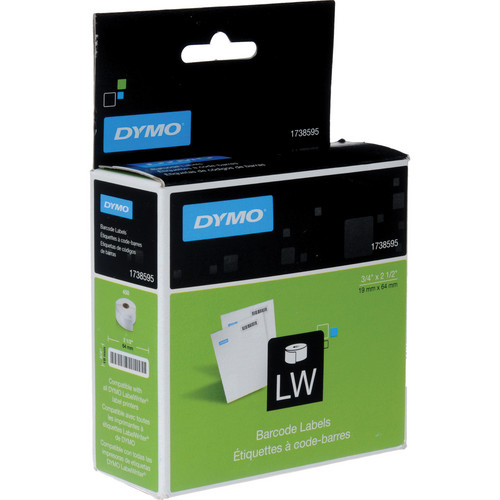 "Dymo Barcode Labels (450, 3/4 x 2-1/2"", White)"