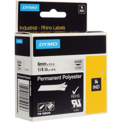 "Dymo Clear Permanent Poly Labels (1/4"")"