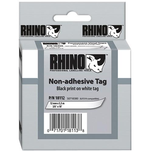 """Dymo White Rhino Non-Adhesive Tag (3/8"""")"""