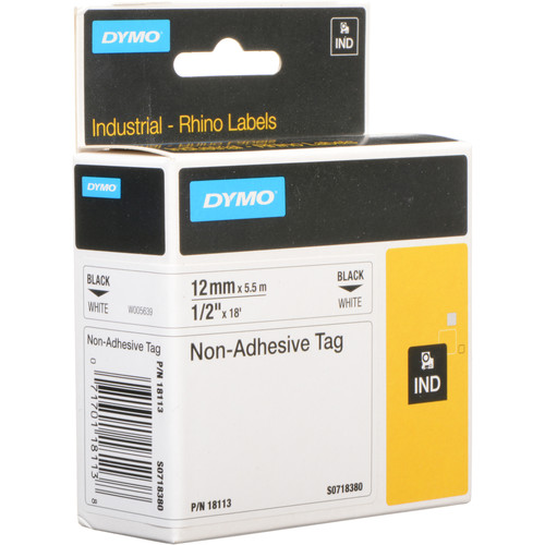 """Dymo White Rhino Non-Adhesive Tag (1/2"""")"""