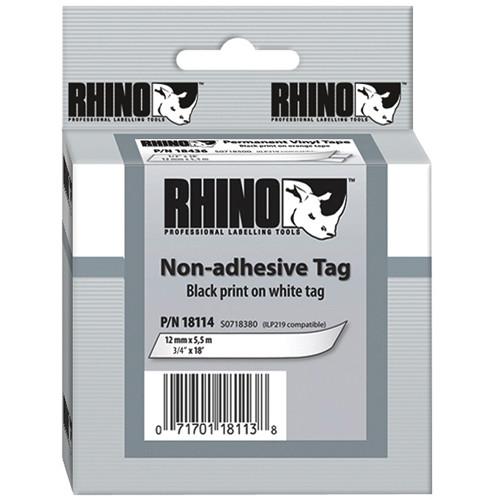 """Dymo White Rhino Non-Adhesive Tag (3/4"""")"""