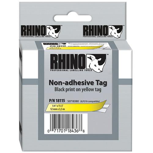 "Dymo Yellow Rhino Non-Adhesive Tag (1/4"")"