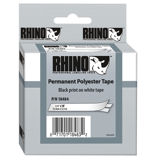 """Dymo White Permanent Poly Labels (3/4"""")"""