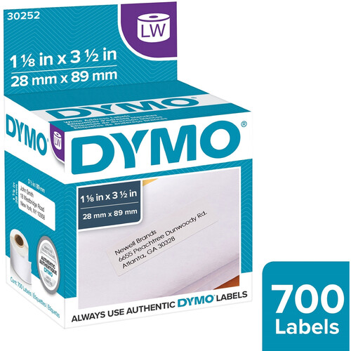 "Dymo LabelWriter Address Labels (1 1/8 x 3 1/2"")"