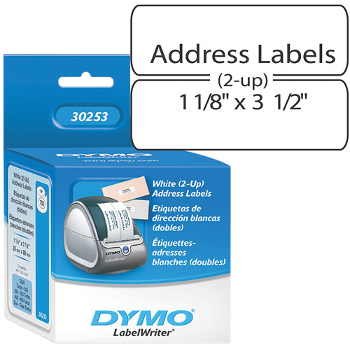 Dymo LabelWriter Address Labels White (2-up) 1 1/8 x 3 1/2""
