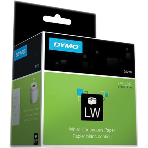 """Dymo LabelWriter Continuous Receipt Paper Non-Adhesive Roll (2 7/16"""" x 300')"""