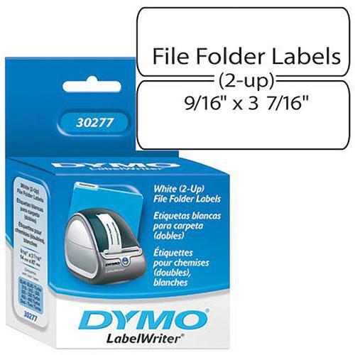 "Dymo White 2-Up File Folder Labels (9/16 x 3 7/16"")"