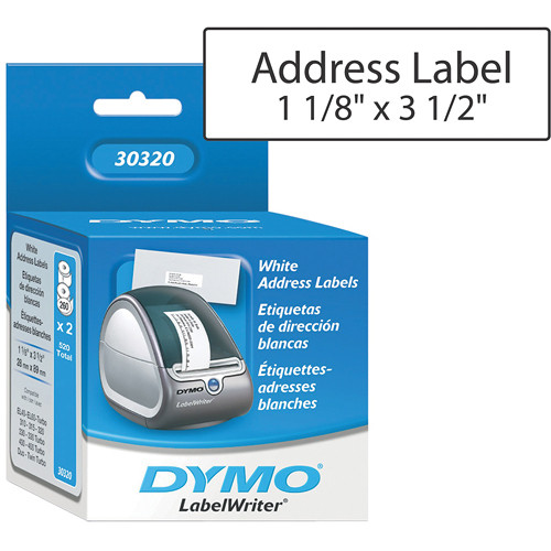 "Dymo LabelWriter Address Labels White (1 1/8 x 3 1/2"")"