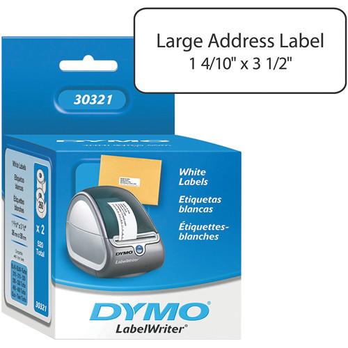 "Dymo LabelWriter Large Address Labels White (1 4/10 x 3 1/2"")"