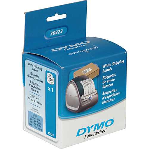 "Dymo 30323 White Shipping Labels (2-1/8 x 4"")"