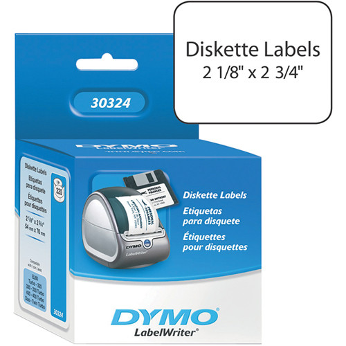 "Dymo LabelWriter White 3.5"" Diskette Labels (2-1/8 x 2-3/4"")"