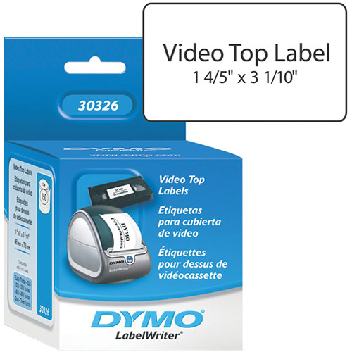 """Dymo LabelWriter VHS Video Top Labels (1 4/5 x 3 1/10"""")"""