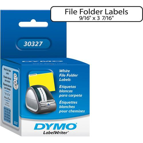 "Dymo White 1-Up File Folder Labels (9/16 x 3 7/16"")"