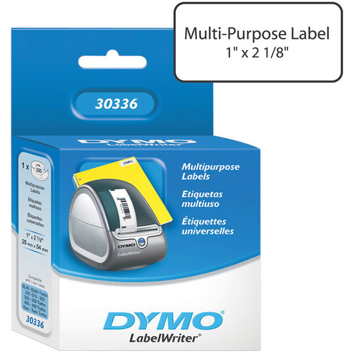 "Dymo LabelWriter Small Multipurpose Labels White (1 x 2-1/8"")"