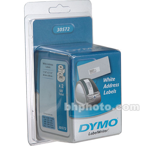 "Dymo 30572 White Address Labels (1-1/8 x 3-1/2"", 28.6 x 88.9mm, 520 Labels)"