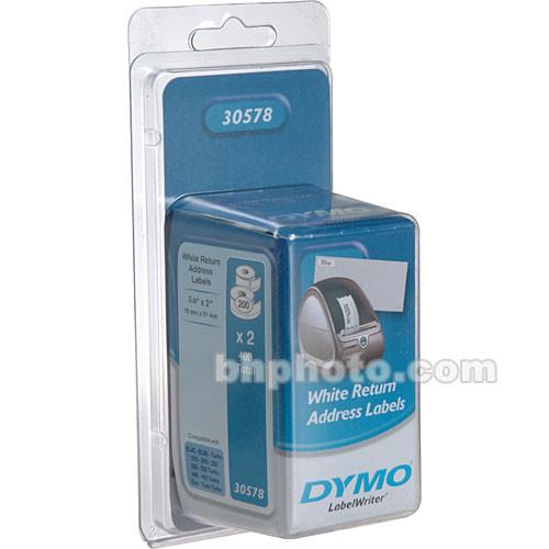 Dymo 30578 White Return Address Labels (200 Labels x 2 Rolls)