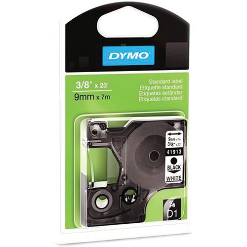 "Dymo Standard D1 Labels (Black Print, White Tape - 3/8"" x 23')"
