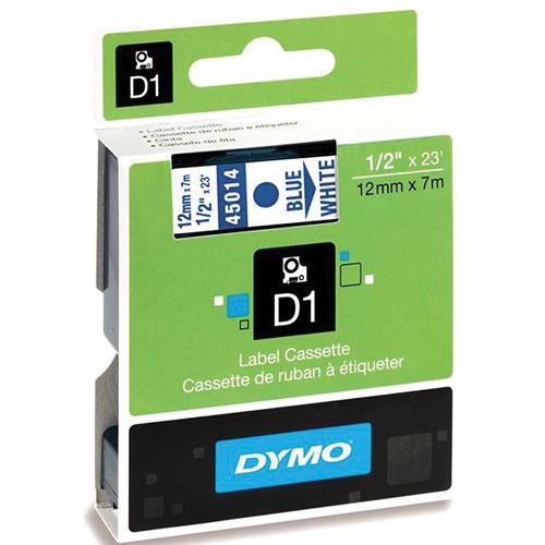 "Dymo Standard D1 Labels (Blue Print, White Tape - 1/2"" x 23')"