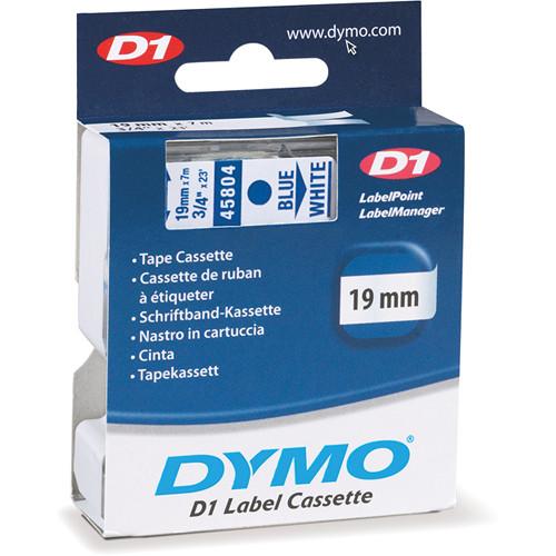 """Dymo Standard D1 Tape (Blue on White, 3/4"""" x 23')"""