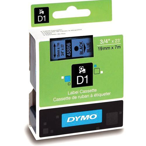 "Dymo Standard D1 Labels (Black Print, Blue Tape - 3/4"" x 23')"