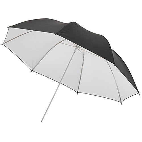 "Dynalite Umbrella with White Interior and Black Backing (44"")"