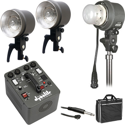 Dynalite SK16-12100V RoadMax/Studio 1,600W/s 3 Head Kit (120V)