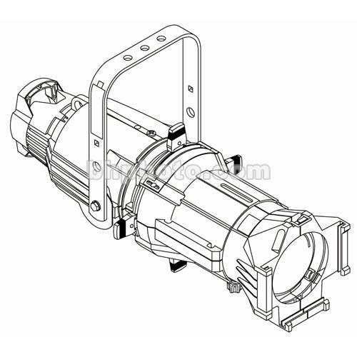 ETC Source  4 750W Ellipsoidal, White, Edison - 50 Degree (115-240V)