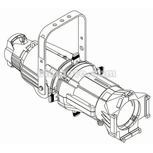 ETC Source 4 750 Watt Ellipsoidal Spotlight, White, 20 Amp Twist-Lock - 50 Degrees (115-240V AC)