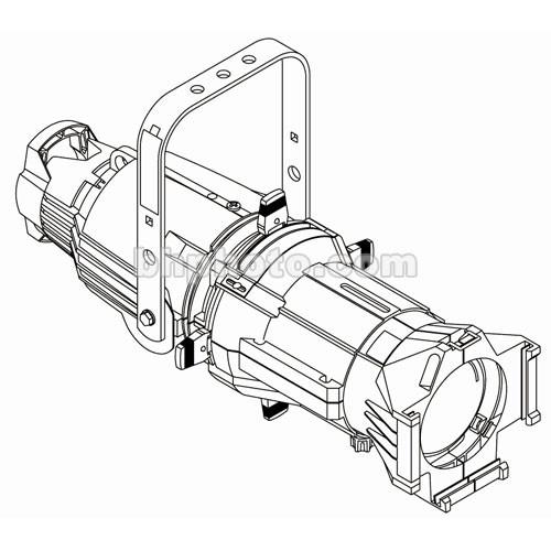 ETC Source 4 750W Ellipsoidal, White, 20A Twist-Lock, 50 Degree (115-240V)