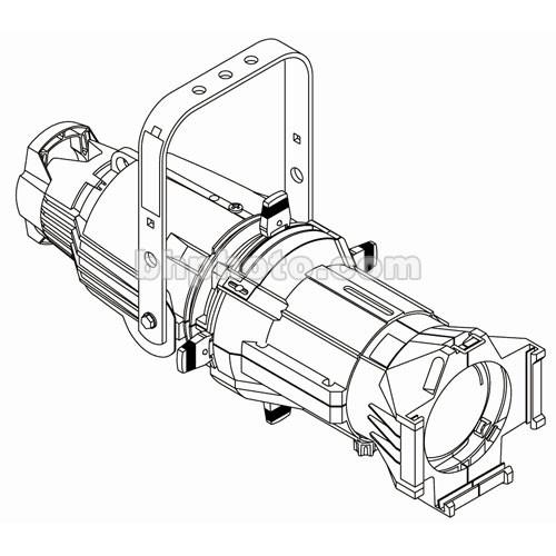 ETC Source 4 750W Ellipsoidal, White, 15A Twist-Lock, 50 Degree (115-240V)