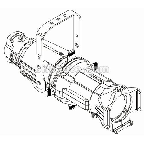 ETC Source 4 750 Watt Ellipsoidal Spotlight, White, Pigtail - 50 Degrees (115-240V AC)
