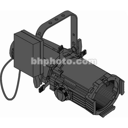 ETC Source 4 HID 25-50 Deg Zoom Ellipsoidal, 15A Twist-Lock, Black (115-240V)