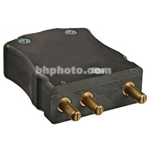 ETC Male Stage Pin Connector, Black - 20 Amps