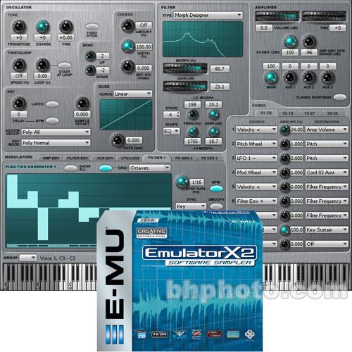 E-MU Emulator X2 Software Sampler with Xmidi 2x2 MIDI Interface