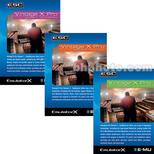 E-MU Vintage X Pro Collection - Classic Synthesizers and Keyboards Sounds for Emulator X and Proteus X