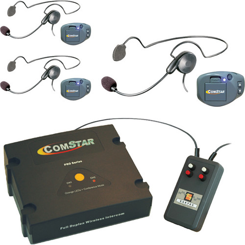 Eartec XT-Plus Com-Center with 3 COMPAK Headsets