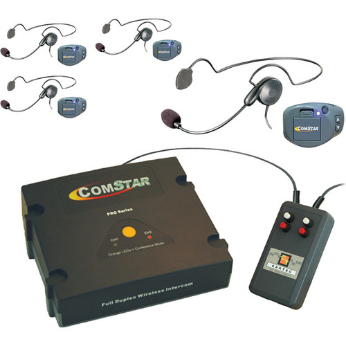 Eartec XT-Plus Com-Center with 4 COMPAK Headsets